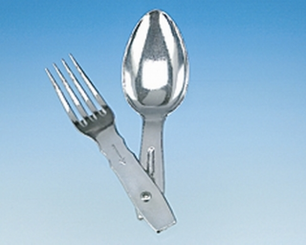 Folding cutlery 2-part